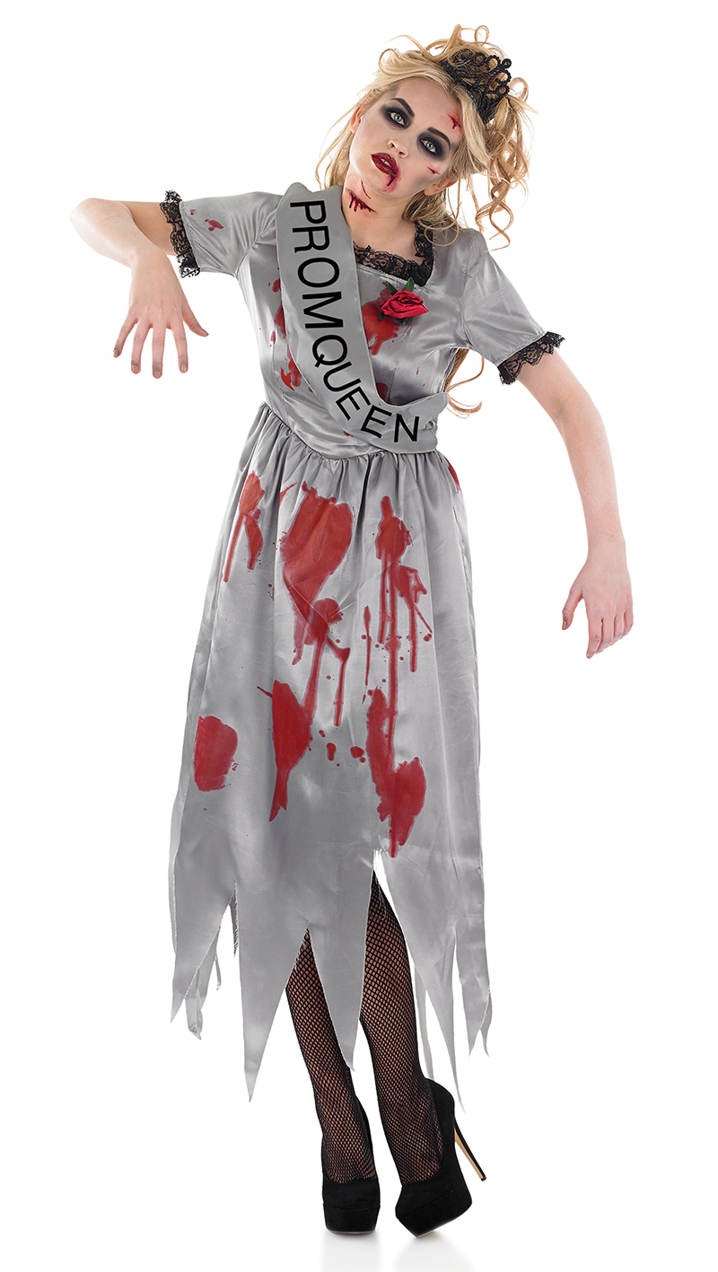 prom queen zombie costume all ladies halloween costumes. Black Bedroom Furniture Sets. Home Design Ideas