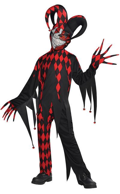 Krazed Jester Clown Boys Costume