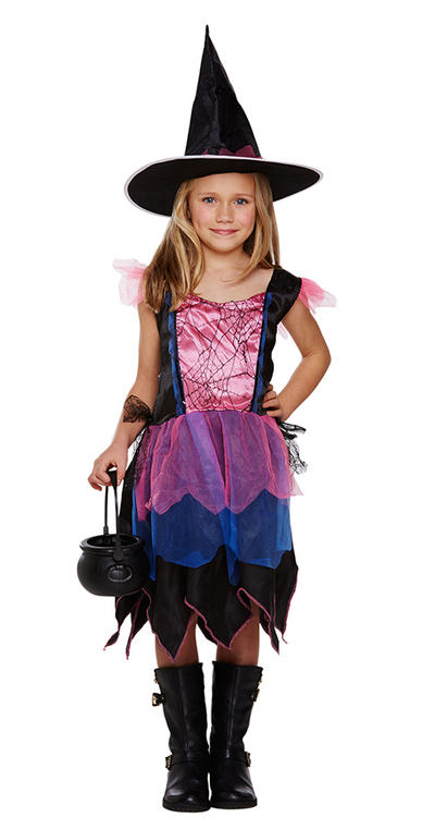 Firework Witch Girls Costume