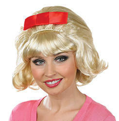 Flicked Blonde Beehive Wig
