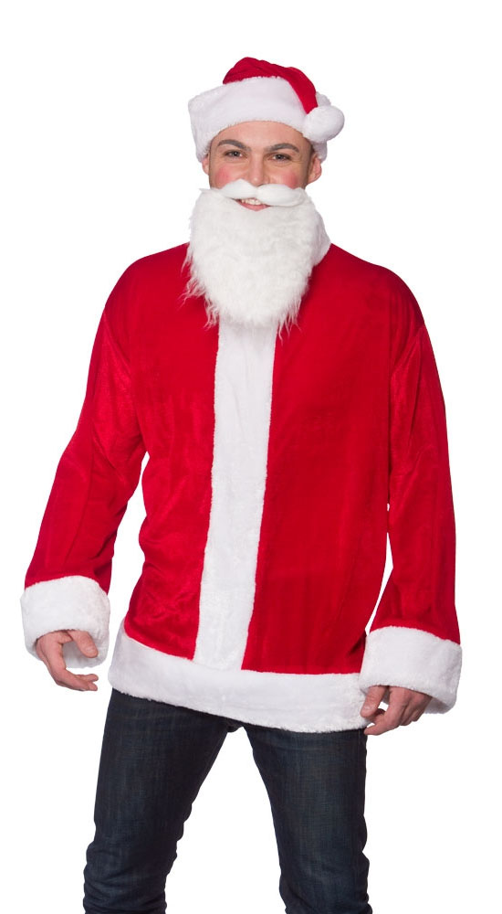 Cool santa claus mens fancy dress father christmas xmas adult costume