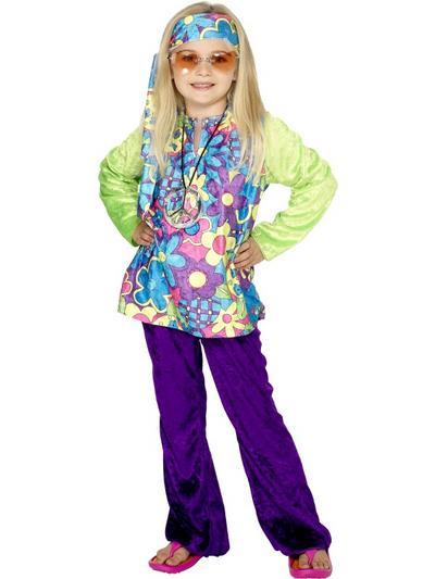 Girls' Psychedelic Hippie Costume