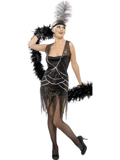View Item Ladies' Glamourous Flapper Fancy Dress Costume