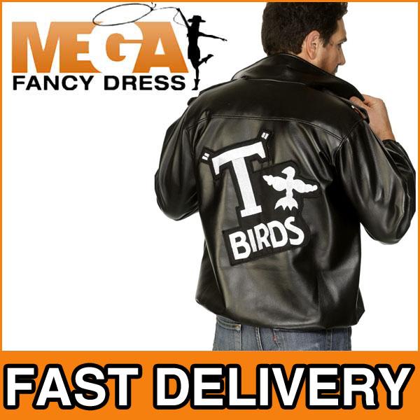 jacke herren t birds 50er grease tbird verkleidung kost m. Black Bedroom Furniture Sets. Home Design Ideas