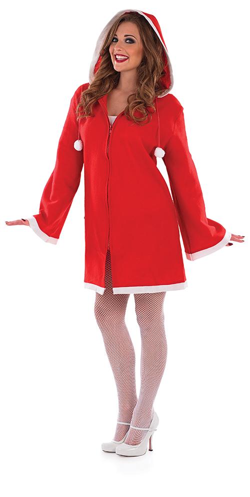 Hooded coat dress ladies fancy dress christmas womens costume ebay
