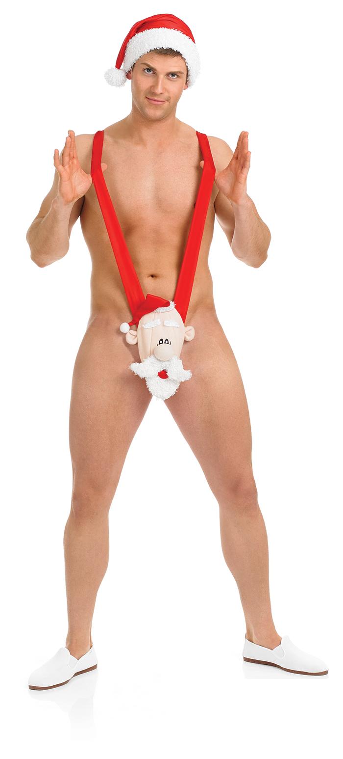 Santa claus mankini mens fancy dress christmas secret present adults