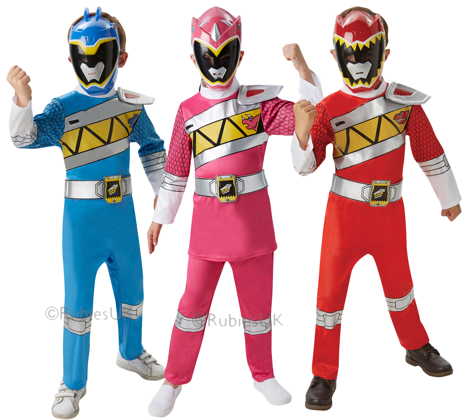 New Dino Charge Power Ranger Fancy Dress Superhero Rangers Kids ...