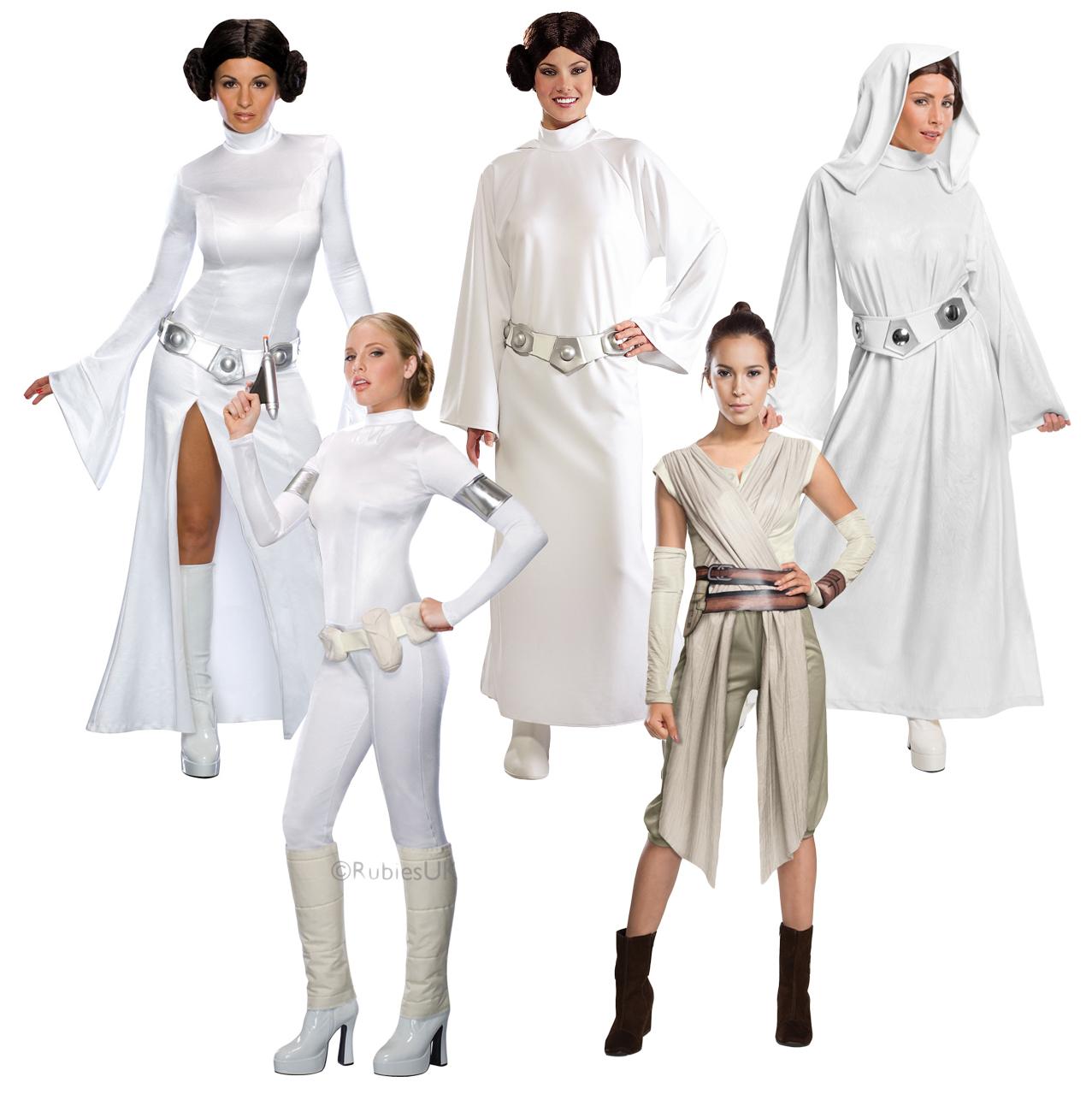 star wars heroines ladies fancy dress scifi film movie