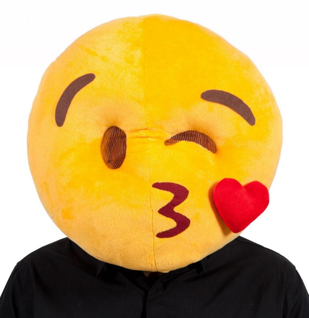 kissing emoji face mask