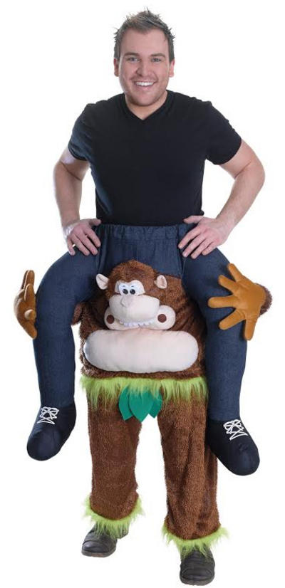 Piggy Back Monkey Costume