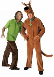 View Item Adult's Deluxe Scooby Doo & Shaggy Group Fancy Dress Costume