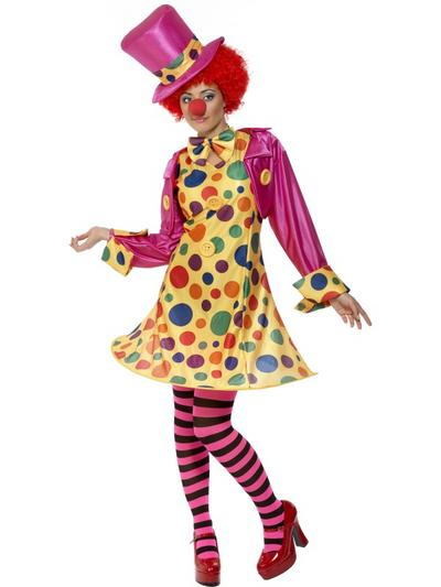 Ladies' Clown Fancy Dress Costume