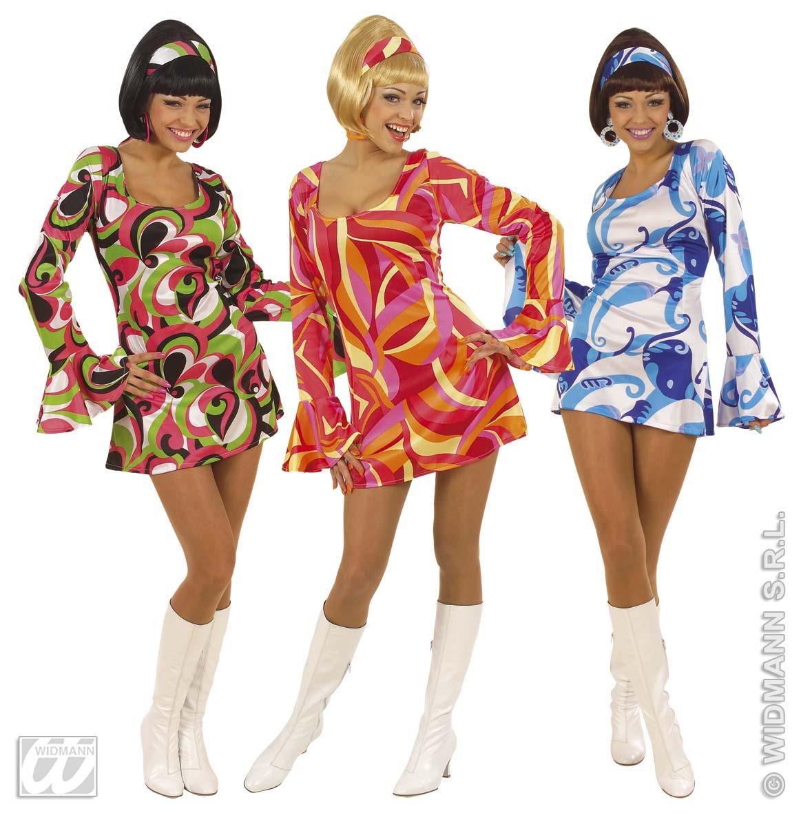 70s chick ladies fancy dress 60s hippy party costume ebay - Vetement annee 70 ...