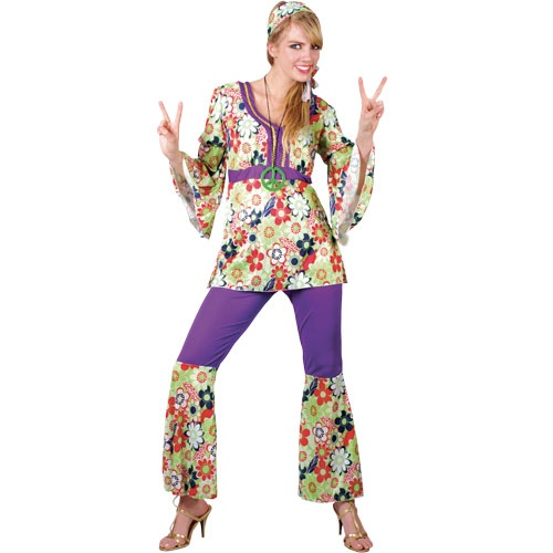 Hippie-Chick-Ladies-70s-Fancy-Dress-70-039-s-Costume-6-24