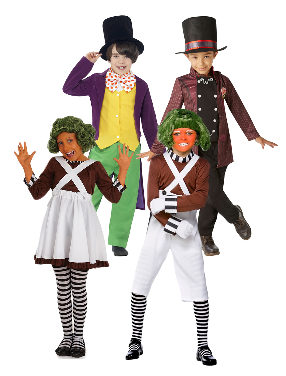 Charlie & The Chocolate Factory Kids Fancy Dress Book Character ...