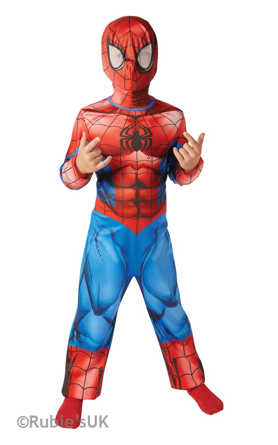 Ultimate Spiderman Boys Fancy Dress Marvel Comic Superhero