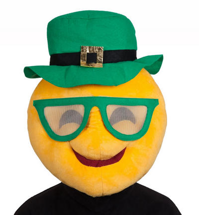 St Patricks Day Cool Emoji Adults Face Mask