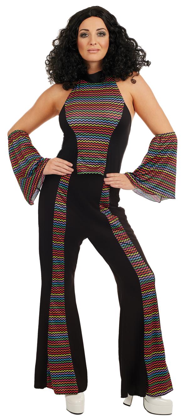 Disco diva ladies fancy dress groovy funky 70s 1970s for Funky diva