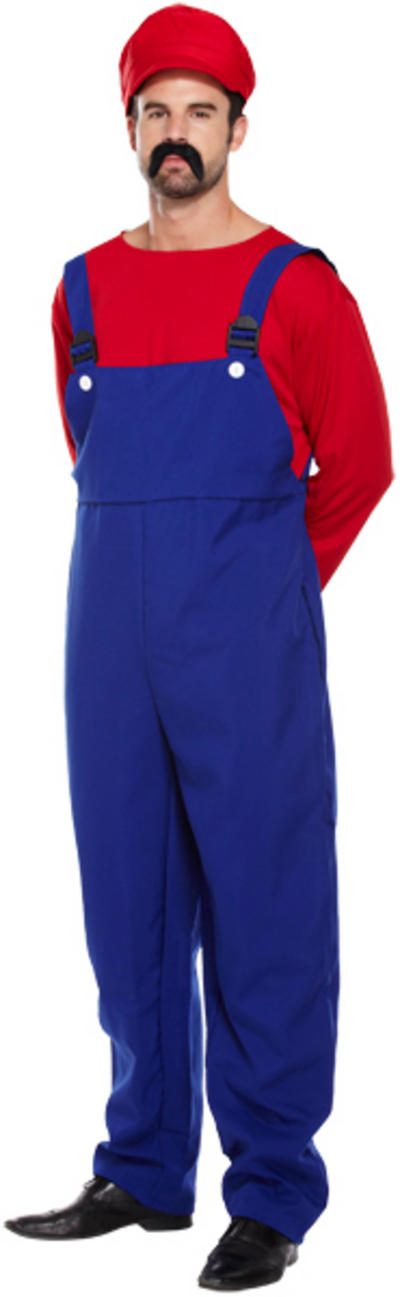 Red Super Workman Mens Costume