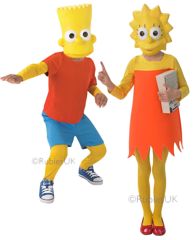 Cartoon Characters Outfits : The simpson kids fancy dress cartoon character tv boys