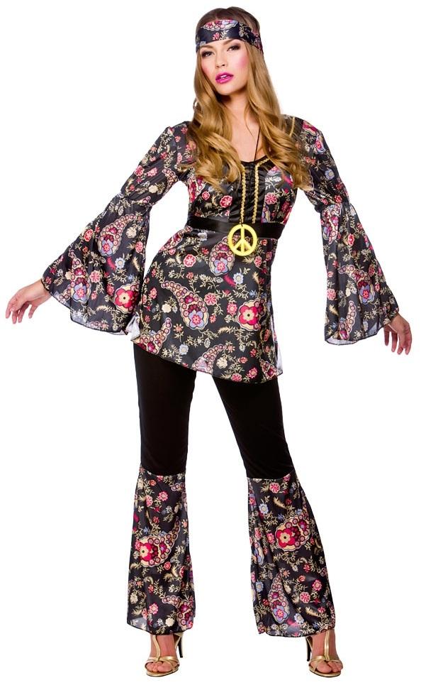 Peace Hippie Ladies Costume 1960s Groovy Retro Womens 60s ...