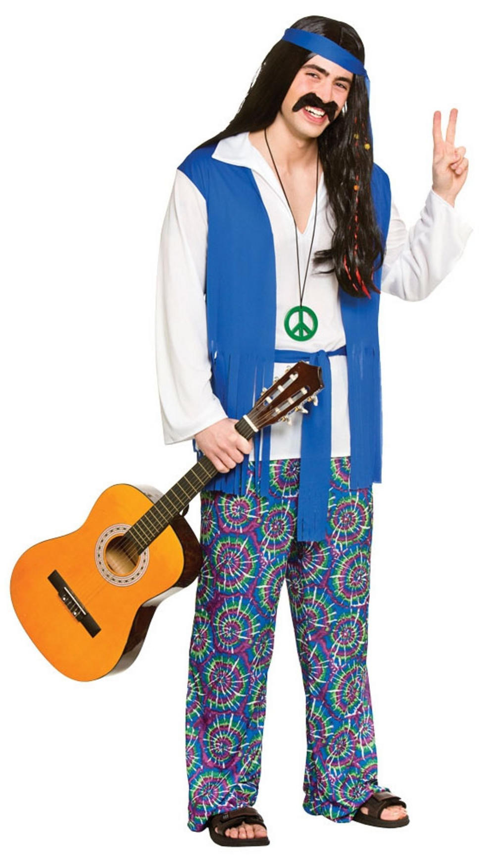 Groovy Hippie Mens Costume 60s Costumes Mega Fancy Dress