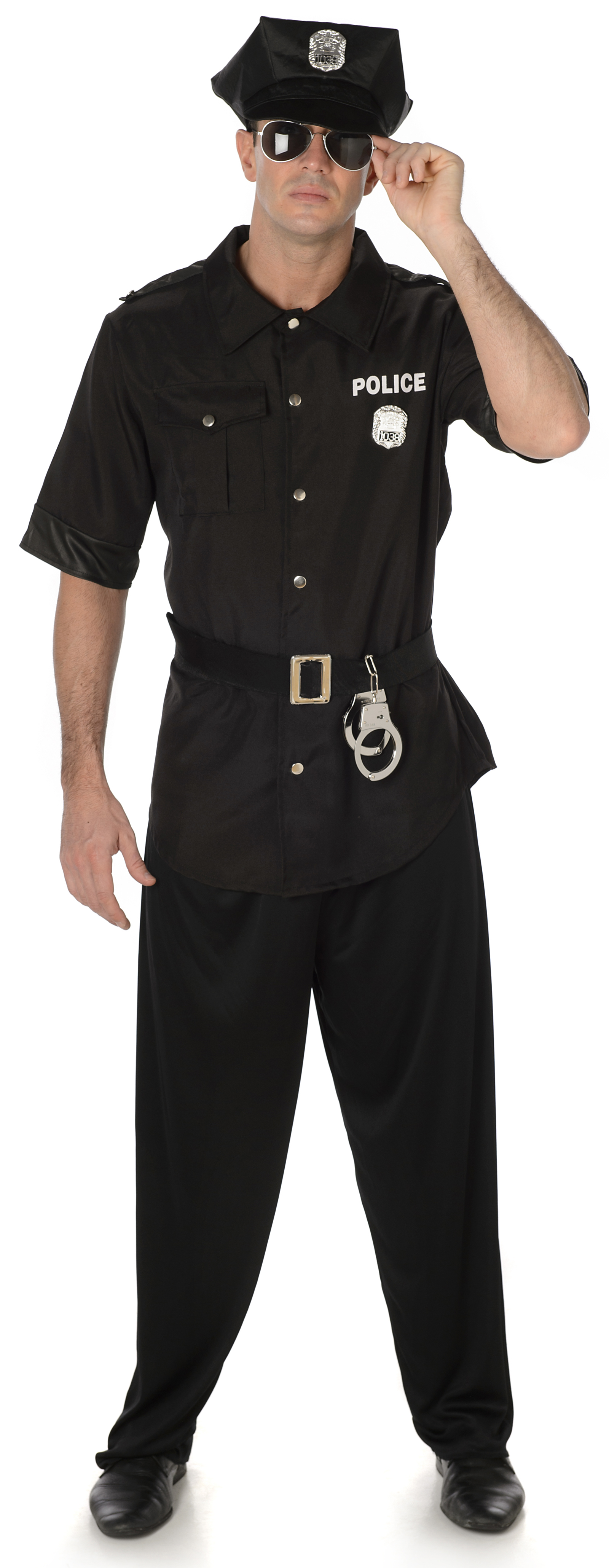 american cop mens fancy dress nypd police officer uniform