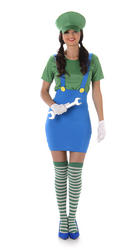 Green Plumber Girl Ladies Costume