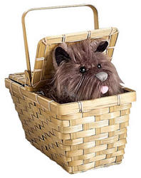 The Wizard of Oz Deluxe Toto in Basket
