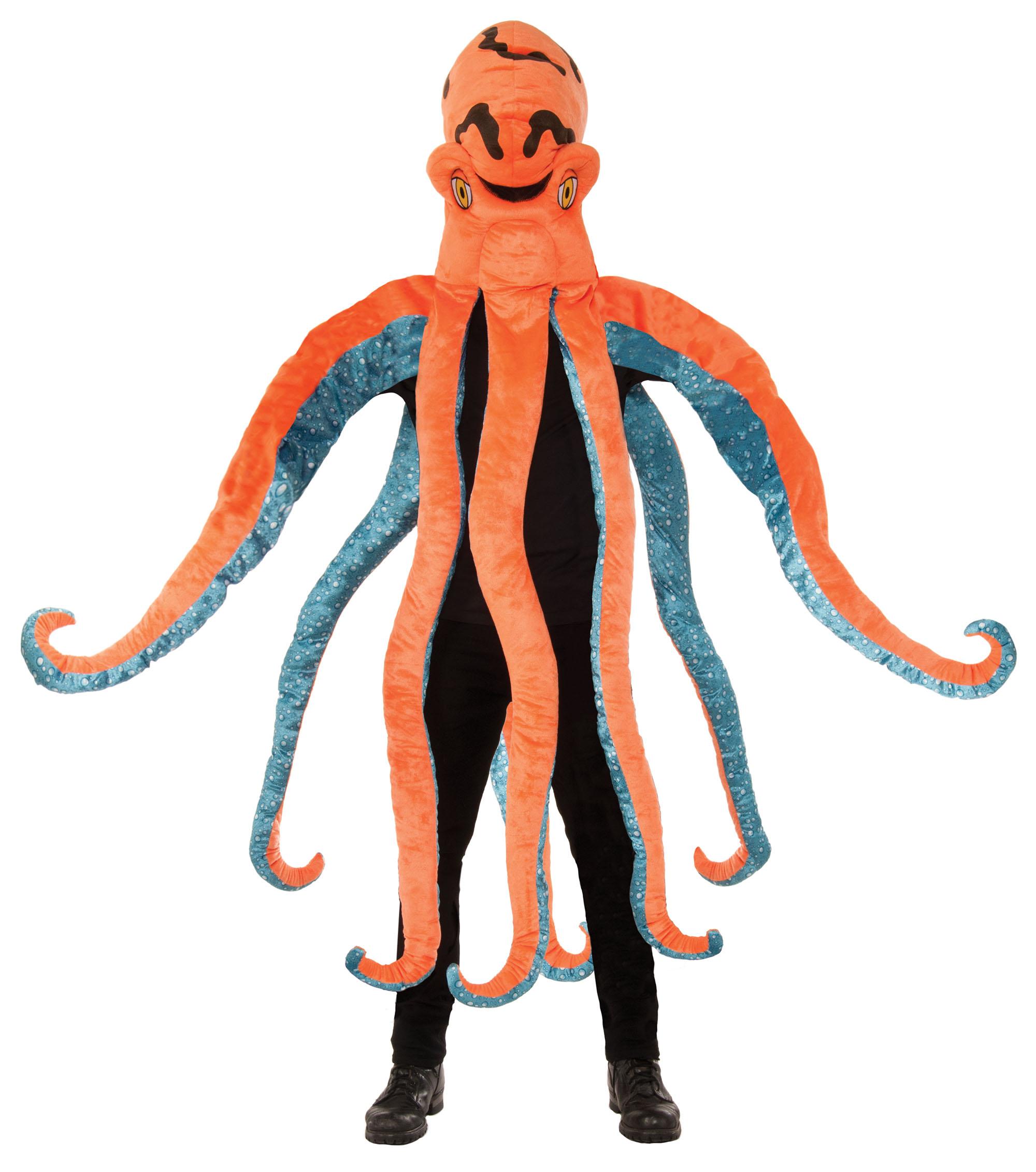 Костюм осьминога из бумаги своими руками 23