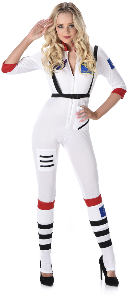 astronaut ladies fancy dress space girl uniform womens. Black Bedroom Furniture Sets. Home Design Ideas
