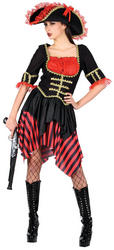 View Item Ladies' High Seas Buccaneer Pirate Fancy Dress Costume