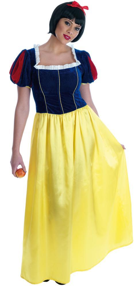 Snow White Long Dress Ladies Fancy Dress Fairytale