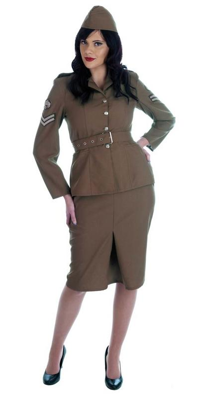 40s WW2 Army Girl Costume