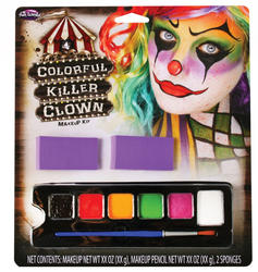 Colourful Killer Clown Halloween Makeup Kit