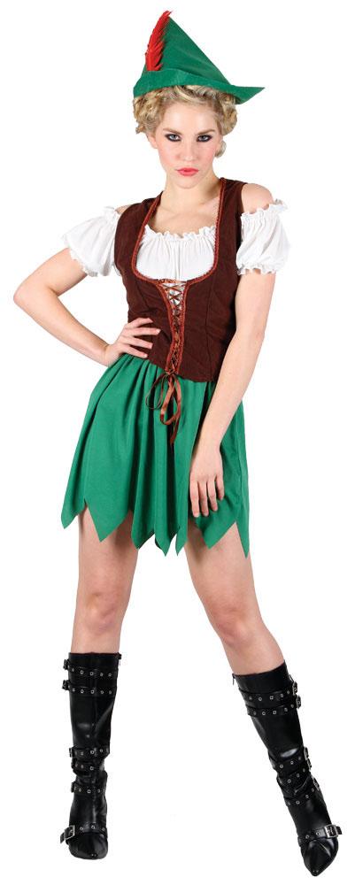 Robin-Hood-Costume-Hat-Ladies-Medieval-Womens-Book-Week-Fancy-Dress-Outfit