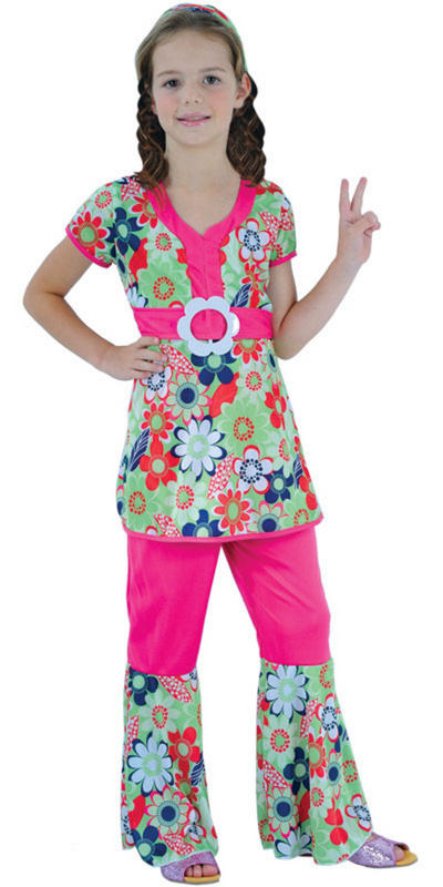 Girls' 60s Peace Loving Hippie Costume