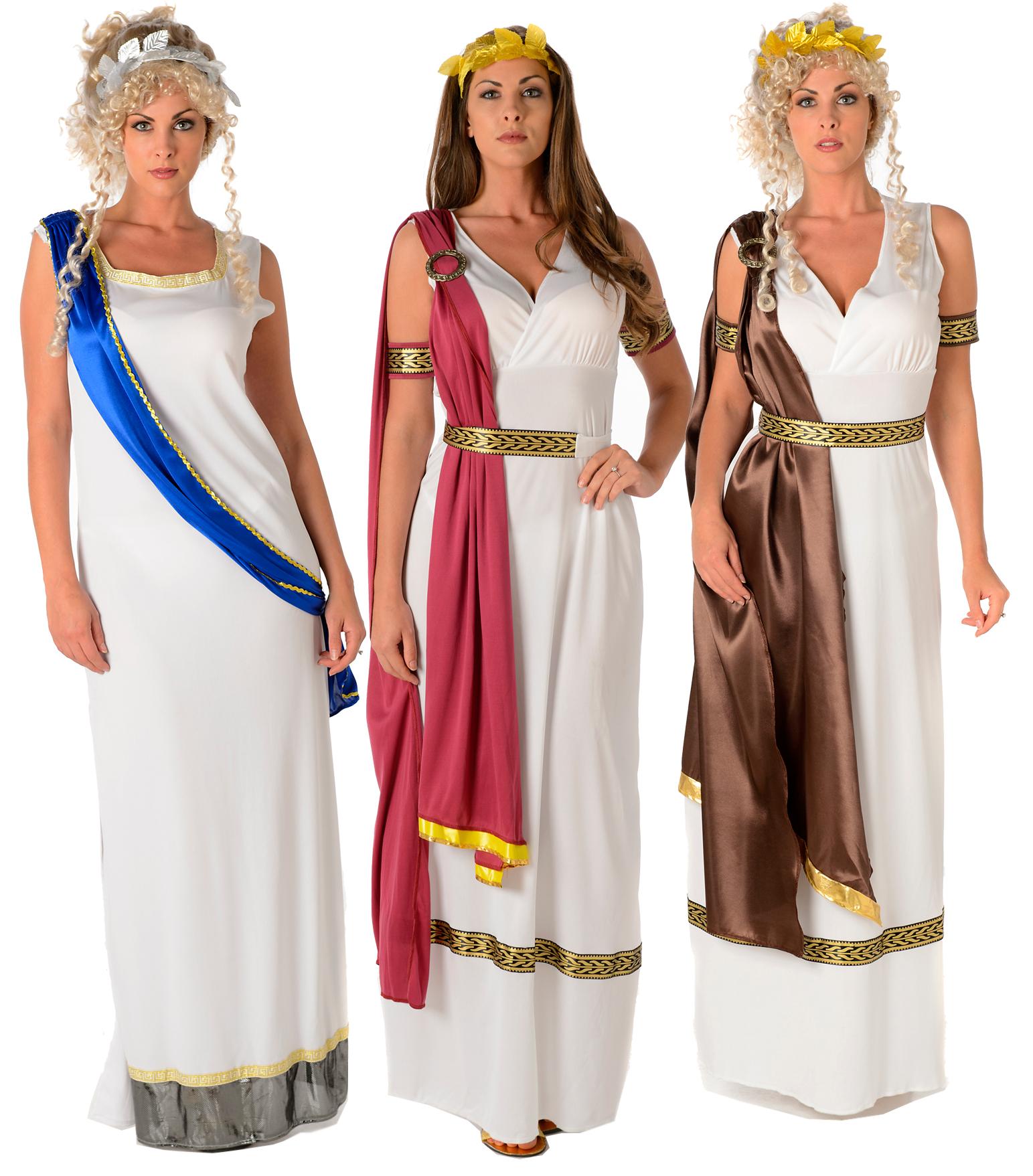 Ancient Greek Clothing: Roman Goddess Ladies Fancy Dress Ancient Greek Athena