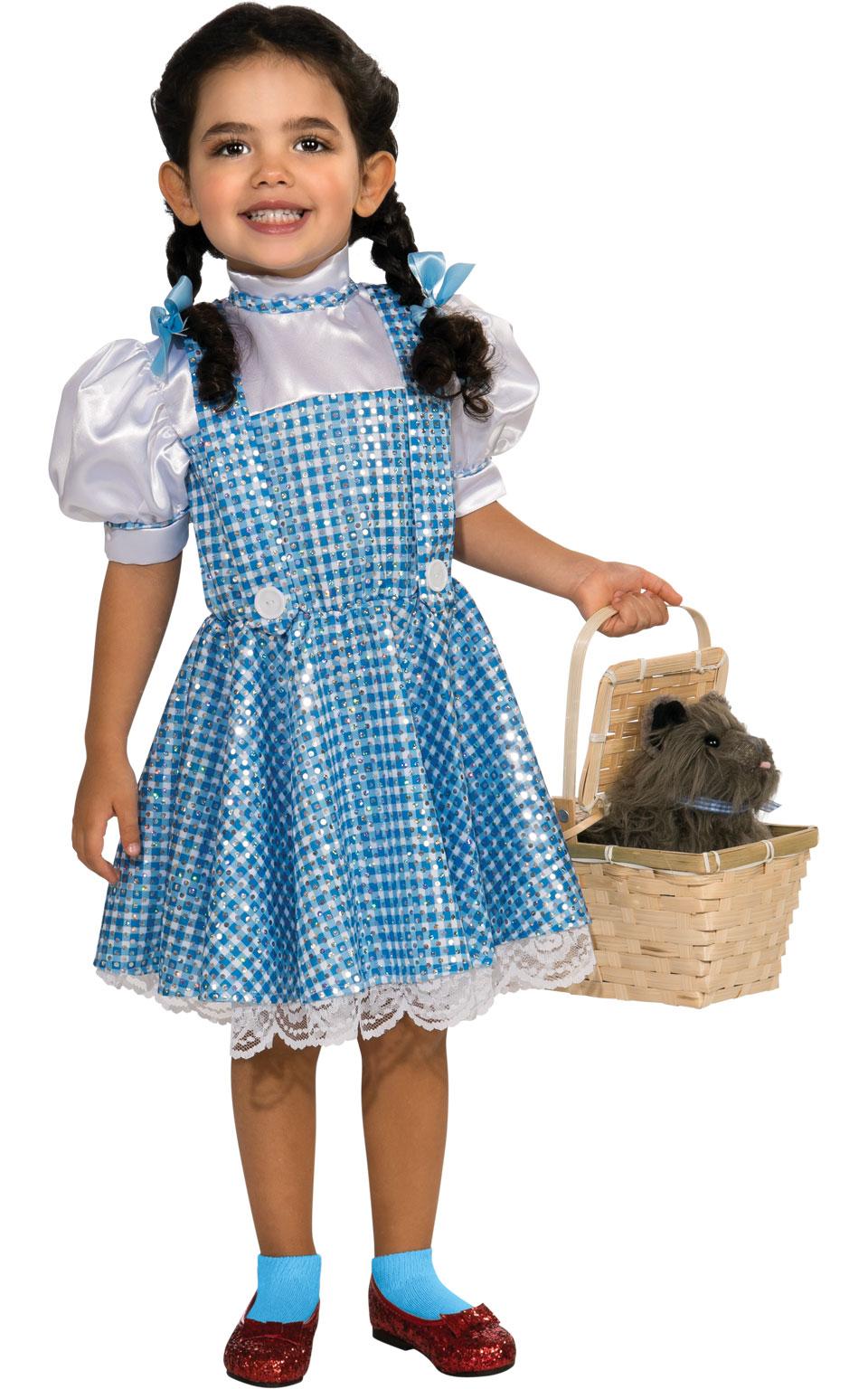 Sequin Dorothy Wizard of Oz Fancy Dress Girls World Book Day Kids ...