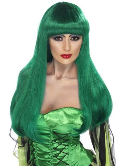 Green Glamour Witch Wig