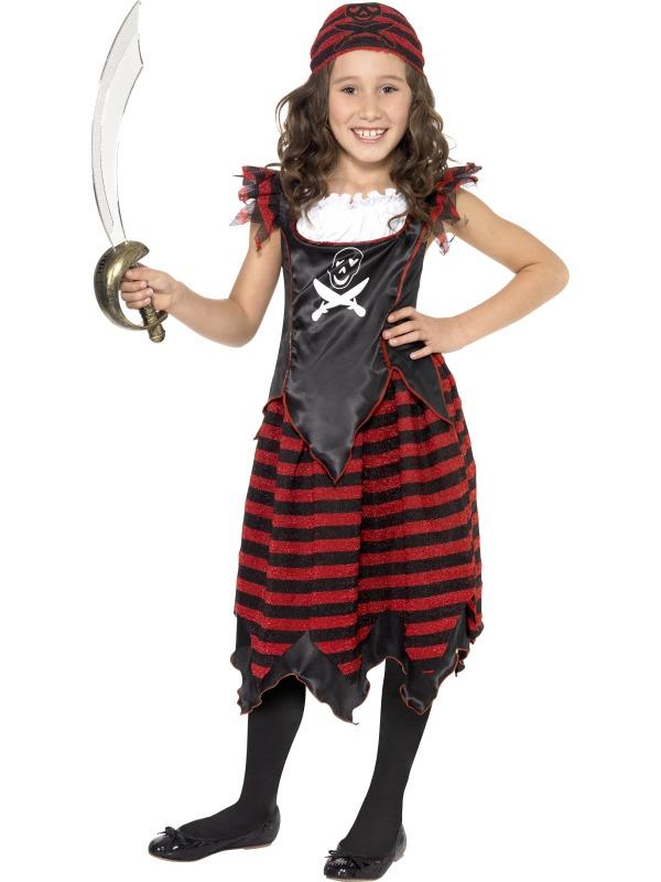Cute Pirate Girl Fancy Dress Kids Child Costume 4 12 | eBay