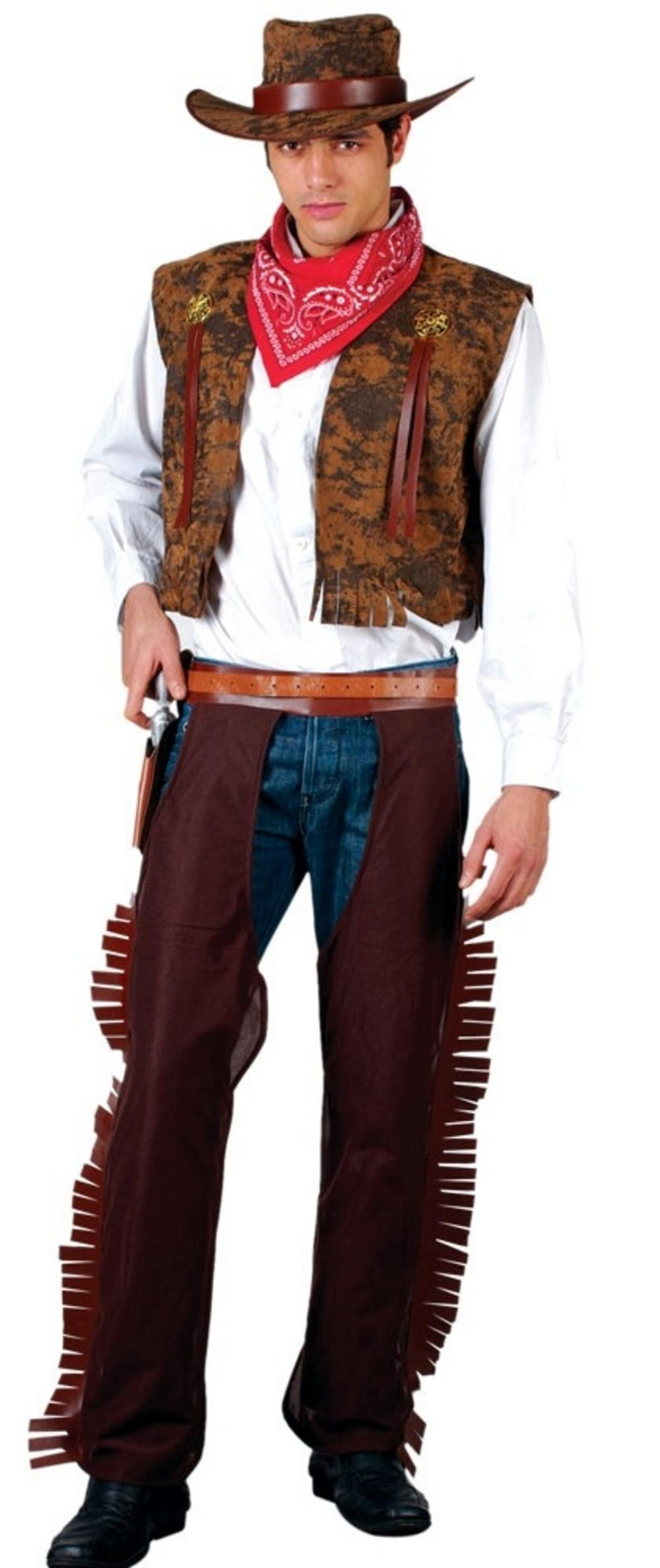 Western Cowboy Costume Mega Fancy Dress