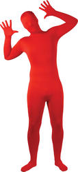 View Item Adults Red Skinz Bodysuit