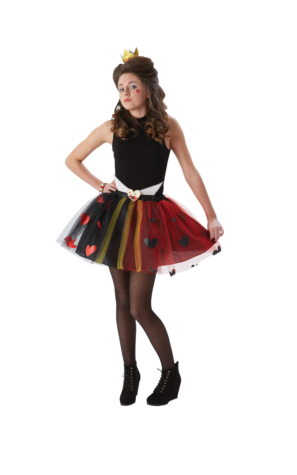 Tween Queen Of Hearts Girls Costume Wonderland Kids ...
