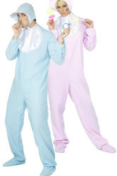 View Item Adults' Pink Baby Romper Suit and ADults' Blue Baby Romper Suit