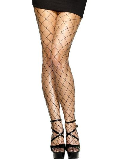 View Item Ladies' Black Diamond Fishnet Tights