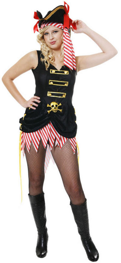 Pirate Woman & Hat Costume