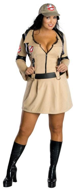 Ladies' Ghostbusters Girl Plus Size Fancy Dress Costume