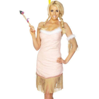 Western Pink Indian Costume