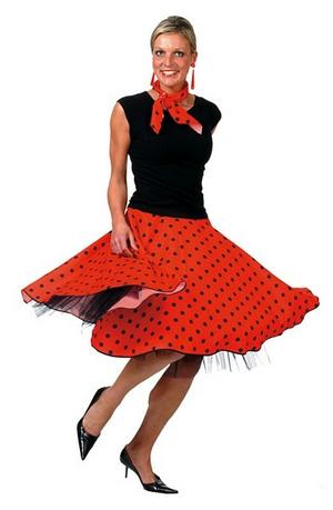 View Item 50s Red Rock N Roll Skirt Costume